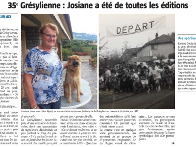 Article 21/09/2017 L'Essor Savoyard Josiane