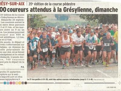 Article 22/09/2017 Dauphiné Libéré