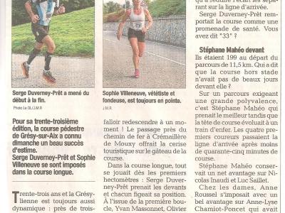 Article 2015 Dauphiné Libéré 1