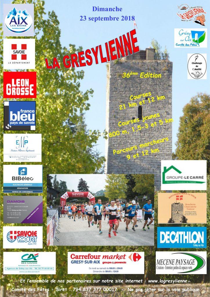 Affiche officielle de La Grésylienne 2018