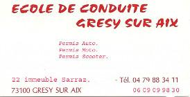ECOLE DE CONDUITE GRESY